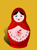 Russian nesting doll - Stock Image - C4R49T