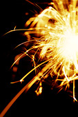 Sparklers on Guy Fawkes night - Stock Image - AXTJ50