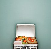 A lunch box - Stock Image - CC28F2