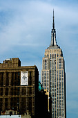 Empire State Building in Manhattan New York City USA Copy Space - Stock Image - AJXMPH