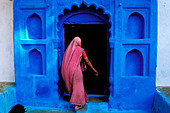 India, Rajasthan State, Jodhpur, the old blue town - Stock Image - BA707C