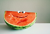 smiling,fruit,watermelon - Stock Image - CYCJX1