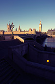 Westminster Bridge and Houses Of Parliament (Big Ben), London England - Stock Image - CC5B8D