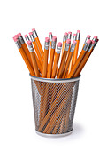 Pencil holder - Stock Image - A5RHY9