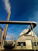 Geothermic power station Iceland. - Stock Image - B8YG1X