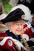Windsor, UK. 15th June, 2015. Queen Elizabeth II attends the The Order of the Garter Service at St George's Chapel at Windsor Castle on June 15, 2015 in Windsor, England. Photo: Patrick van Katwijk/ POINT DE VUE OUT - NO WIRE SERVICE -/dpa/Alamy Live News - Stock Image - ETWJM3