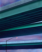 Light Post Lamp & Highways Flyover - Stock Image - A2B423