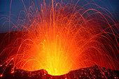 Vanuatu, Tafea, Tanna Island, volcano eruption - Stock Image - AFE1AK