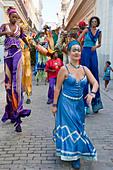 Street Entertainers, Old Havana, Cuba - Stock Image - CTX8H9