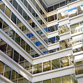 Office building in Washington DC - Stock Image - ENBR4T