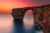 The Azure Window on the coast of the Maltese island Gozo - Stock Image - CYWRYA