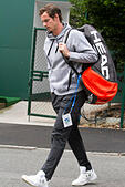 Wimbledon, London, UK. 23rd June, 2015. Andy Murray arrives at the AELTC for the first time after winning the Queen's club tournament ahead of the 2015 Wimbledon Tennis championships © amer ghazzal/Alamy Live News - Stock Image - EWCNBJ