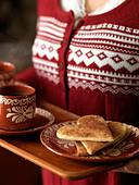 Cinnamon cookies, Sweden. - Stock Image - BHH9R4