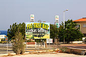 Zefkas George, Fig Tree Bay resaurant, Protaras, Cyprus. - Stock Image - EFJCD4