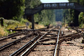 Wokingham, Berkshire, UK. 30th June, 2015. As the heat sores to 33 c today in Wokingham Berks, Train tracks get ready to over heat leaving train delays. Reports that Train Service from London to Henley will not run tomorrow due to the heat on the tracks, Roads will be gridlocked in the area of Henley on Thames as day one of the Henley Royal Regatta gets under way. © paul king/Alamy Live News - Stock Image - EWRM79