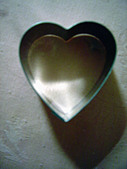 Artistic Photograph of Heart Shaped Cookie Biscuit Cutter Copy Space - Stock Image - A03W8G