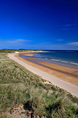 Sand Patterns at Embleton Bay beach North Northumbrian Coast Northumbria England - Stock Image - BKH18D