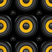 Audio Speaker Cone Detail Seamless Pattern Photo - Stock Image - DC0NB8