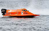 F2 powerboats, Holme Pierrepont, Nottingham. 1 September 2013 - Stock Image - DDJET5