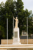 Statue in front of Larnaca Theatre, Larnaca, Cyprus. - Stock Image - E9YYTH