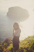 a girl in the nature - Stock Image - EDWMDP