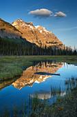 Mount Wilson at Graveyard Flats - Banff National Park - Alberta, Canada. - Stock Image - B18WTW