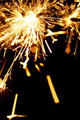 Sparklers on Guy Fawkes night - Stock Image - AXTJ9E