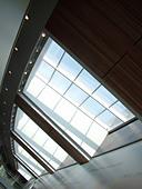Window and architecture detail, Newhouse, Syracuse University. - Stock Image - AKXJHM