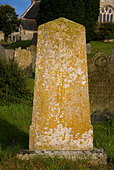 Gravestone at St Constantine village church at Constantine  Cornwall. - Stock Image - A619NR