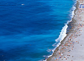 People On Beach, Aerial View - Stock Image - BXPYKR