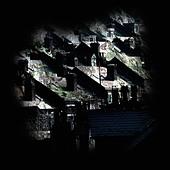 Dark Urban Houses - Stock Image - B3D47E