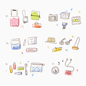 goods for travels - Stock Image - C5T291