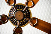 Detail of ceiling fan. - Stock Image - AKHE8M