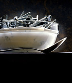 bowl of nails - Stock Image - C3G421