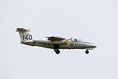 SAAB 105 SK60 of the Swedish Airforce Historic flight on approach to RAF Waddington Airshow 2013 - Stock Image - DAB6FW