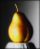Portrait of a pear - Stock Image - BADRXB