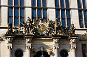 Markt Schuetting building in the Alt Stadt, Bremen, Germany - Stock Image - E6RAW2