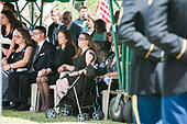 Tucson, Arizona, USA. 24th May, 2014. MELINDA BARRERAS (ed. note: without sunglasses), the wife of Command Sgt. Maj. MARTIN BARRERAS is seen at her husband's interrment in Tucson, Ariz. Barreras was wounded earlier in May after his unit came under fire in Herat Province, Afghanistan and died May 13, 2014 in Texas. Barreras is the most recent U.S. serviceman killed as a result of enemy action in Afghanistan. © Will Seberger/ZUMAPRESS.com/Alamy Live News - Stock Image - E16PX3