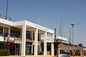 Larnaca Marina offices and clubhouse - Stock Image - E128A4