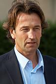Christophe Dussutour, manager, winemaker chateau trottevieille saint emilion bordeaux france - Stock Image - BEAW36