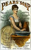 PEARS SOAP advert 1886 - Stock Image - BDDJMB