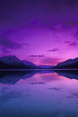 Sunset Kenai Lake Kenai Peninsula AK summer scenic reflection - Stock Image - AR0HJJ