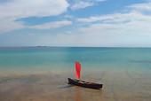 canoe sailing solitude - Stock Image - ANCEKT