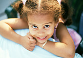 3 year old girl - Stock Image - A091D6