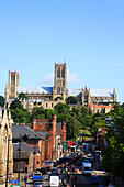 Lincoln Cathedral, Lincoln, England - Stock Image - EFJCCT