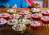 Close-up of cupcakes - Stock Image - CBYD8M