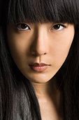 Face of a young woman - Stock Image - BJP175