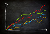 line diagram report concept - Stock Image - EBM6NR