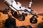 This is an image from part of the new Space discovery exhibition at the Ontario Science Centre. - Stock Image - D05DTW