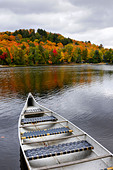 Canoe on a lake - Stock Image - B4P5J4
